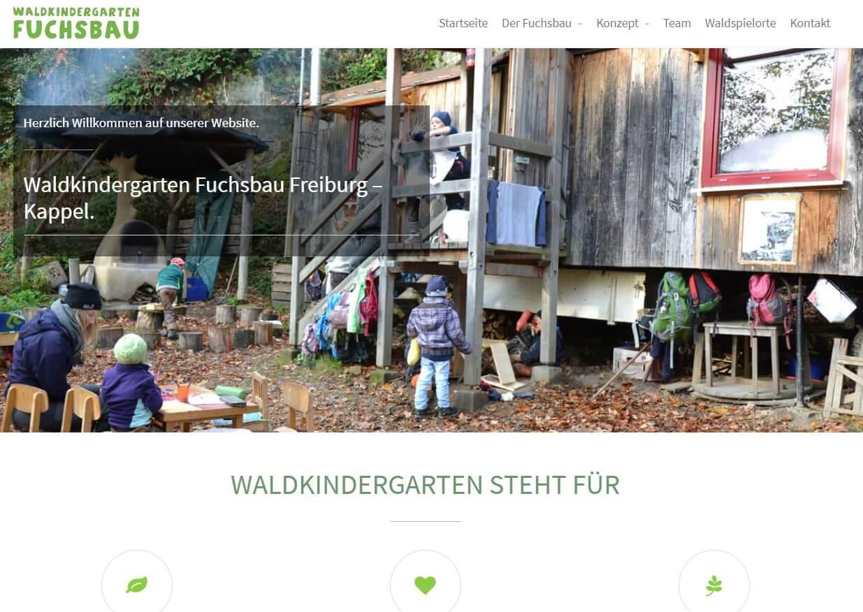waldkindergarten Website